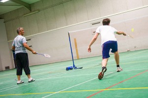 Badminton match at The Holbrook