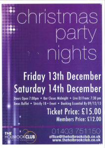 Xmas Part Night poster
