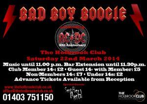 Bad Boy Boogie Poster April 201