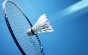 Shuttlecock hitting racket